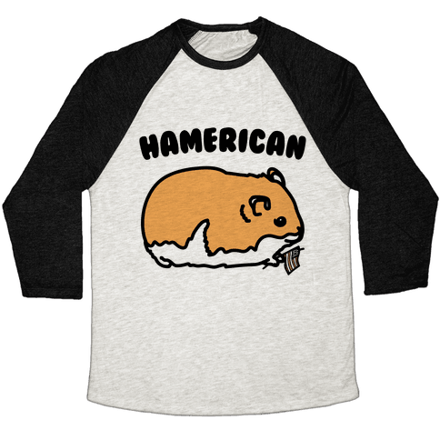 Hamerican Parody Baseball Tee