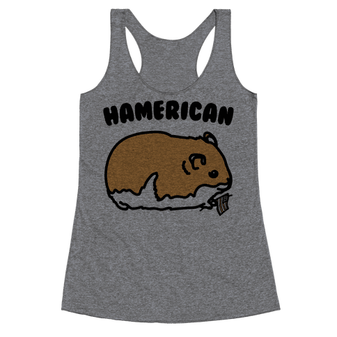 Hamerican Parody Racerback Tank Top