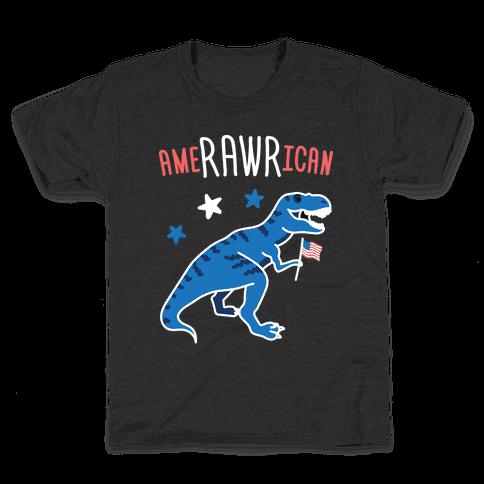 AmeRAWRican Dino Kids T-Shirt