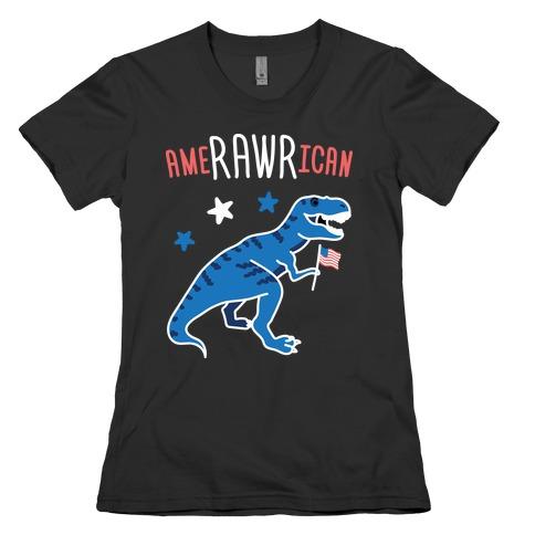 AmeRAWRican Dino Womens T-Shirt