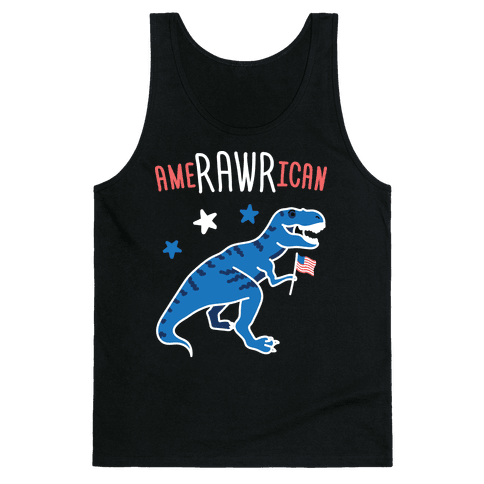 AmeRAWRican Dino Tank Top
