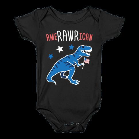 AmeRAWRican Dino Baby Onesy