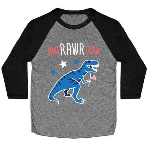 AmeRAWRican Dino Baseball Tee