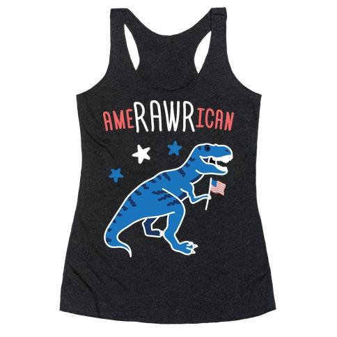 AmeRAWRican Dino Racerback Tank Top