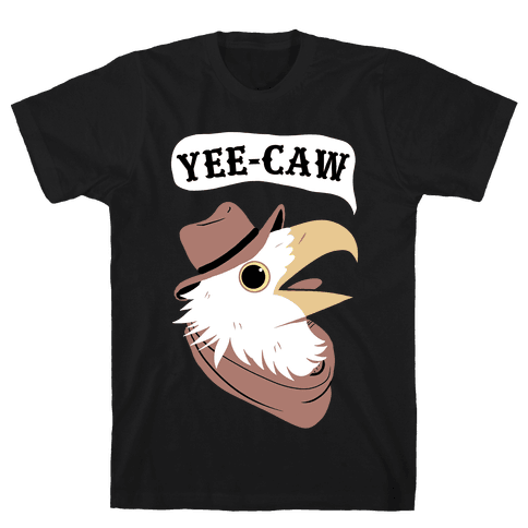 YEE-CAW Bald Eagle Mens/Unisex T-Shirt