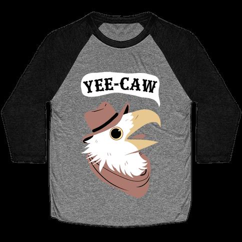 YEE-CAW Bald Eagle Baseball Tee