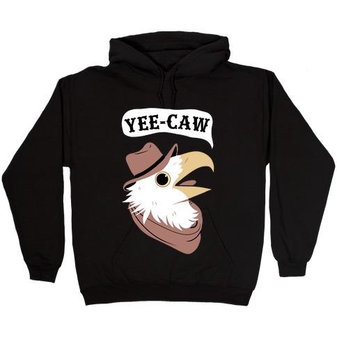 YEE-CAW Bald Eagle Hooded Sweatshirt