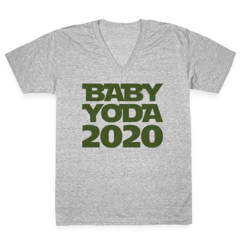 Baby Yoda 2020 Parody V-Neck Tee Shirt