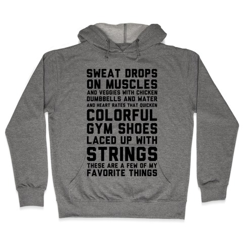 Sweat Drops On Muscles And Veggies With Chicken Hooded Sweatshirt