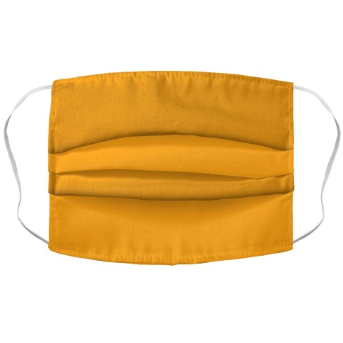 Saffron Accordion Face Mask