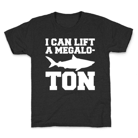 I Can Lift A Megalo-Ton White Print Kids T-Shirt