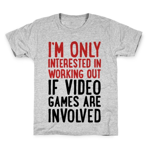 Video Game Workout Kids T-Shirt