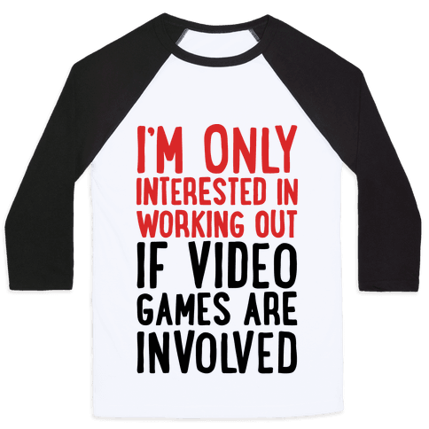 Video Game Workout Baseball Tee