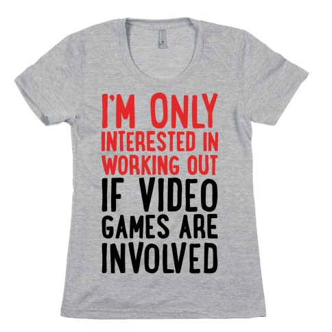 Video Game Workout Womens T-Shirt
