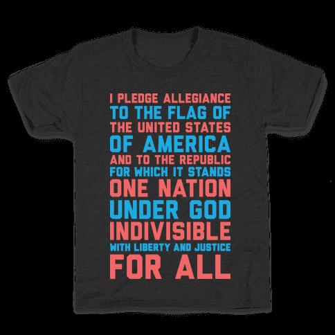 Pledge Of Allegiance Kids T-Shirt