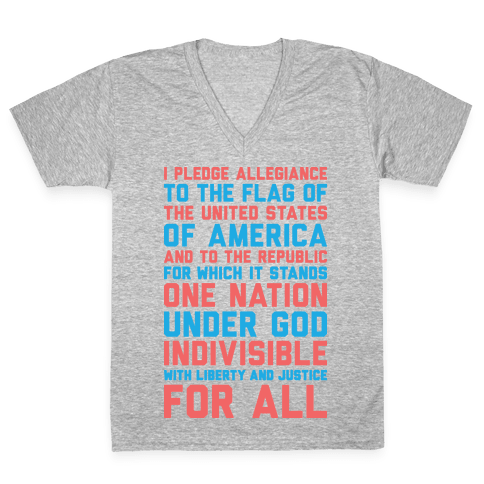 Pledge Of Allegiance V-Neck Tee Shirt