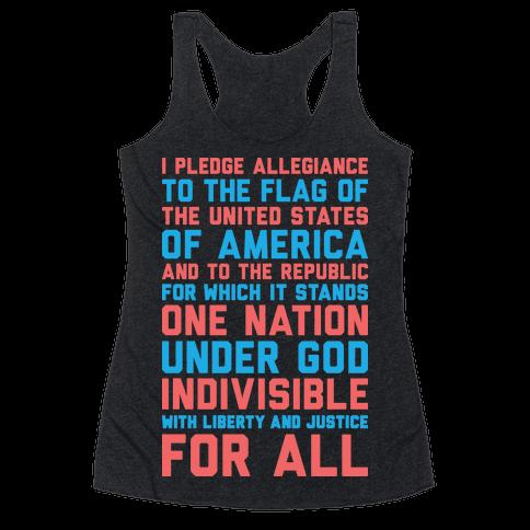 Pledge Of Allegiance Racerback Tank Top
