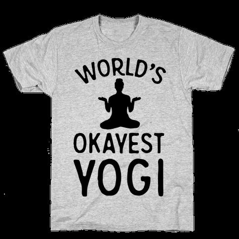 World's Okayest Yogi Mens T-Shirt