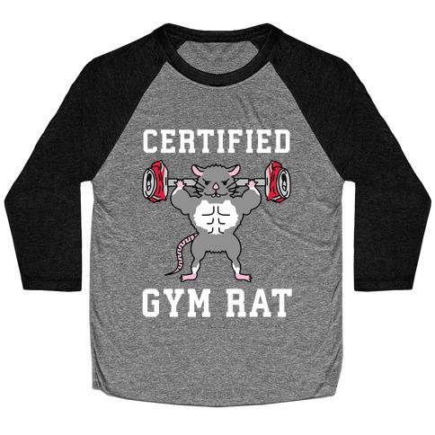 Certified Gym Rat Baseball Tee