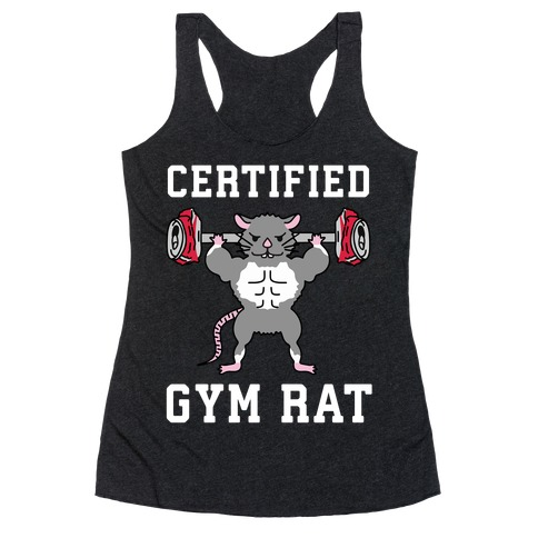 Certified Gym Rat Racerback Tank Top