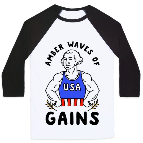 Amber Waves Of Gains Baseball Tee