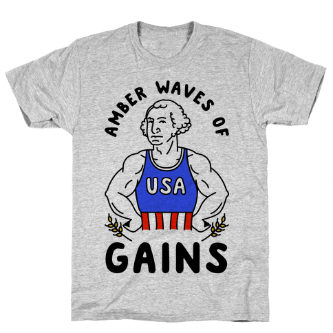 Amber Waves Of Gains Mens T-Shirt