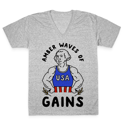 Amber Waves Of Gains V-Neck Tee Shirt