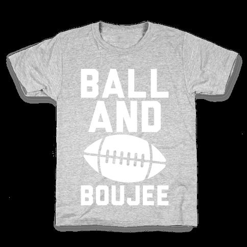 Ball and Boujee Football Parody White Print Kids T-Shirt