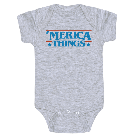'Merica Things Parody Baby Onesy