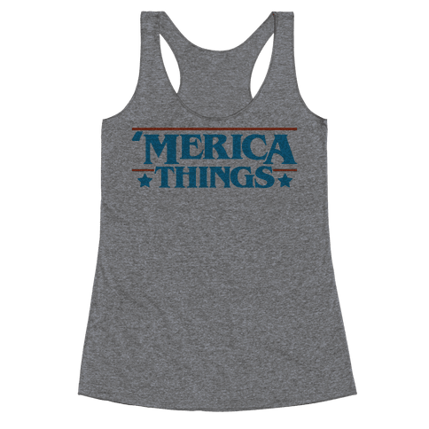 'Merica Things Parody Racerback Tank Top