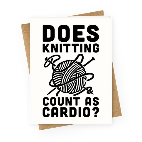 Fitness greeting cards activate apparel does knitting count as cardio greeting card m4hsunfo
