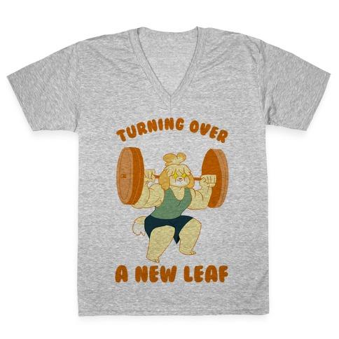 Isabelle Squats V-Neck Tee Shirt