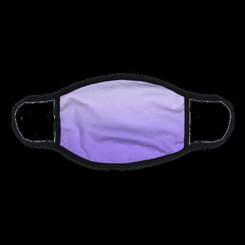 Lavender Gradient Flat Face Mask