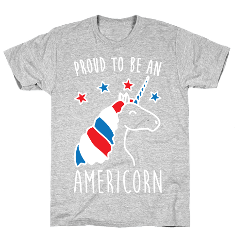 Proud To Be An Americorn Mens T-Shirt