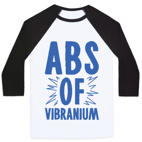 Abs Of Vibranium Parody Baseball Tee
