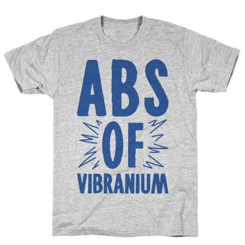 Abs Of Vibranium Parody Mens T-Shirt