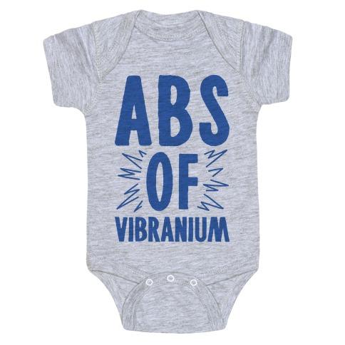 Abs Of Vibranium Parody Baby Onesy