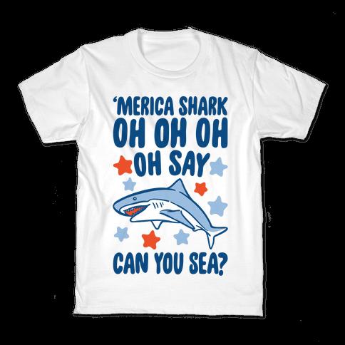 'Merica Shark Parody Kids T-Shirt