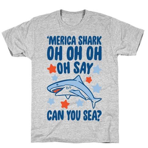 'Merica Shark Parody Mens/Unisex T-Shirt