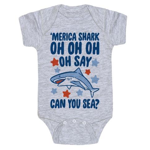'Merica Shark Parody Baby Onesy