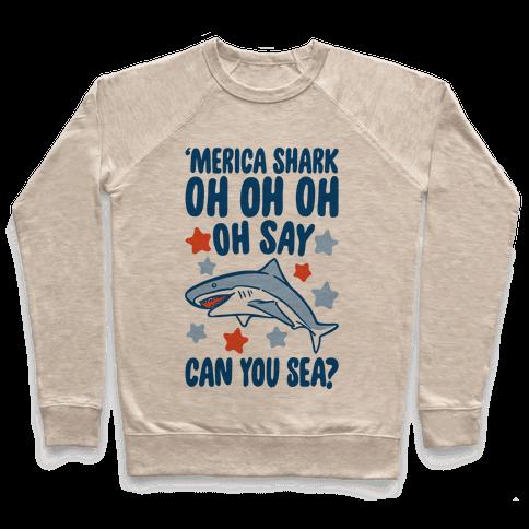 'Merica Shark Parody Pullover