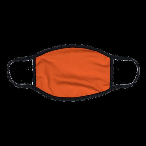 International Orange  Flat Face Mask