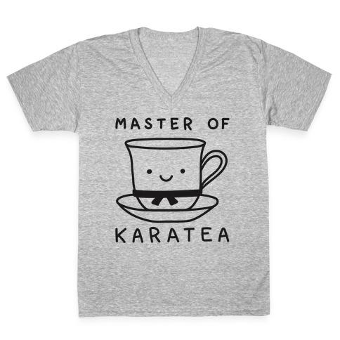 Master Of KaraTEA V-Neck Tee Shirt