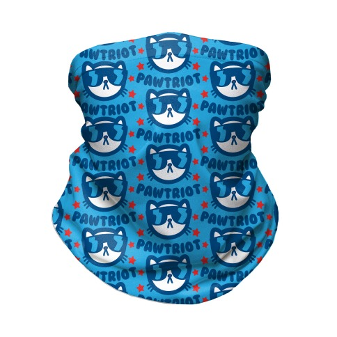 Party Like A Pawtriot Neck Gaiter