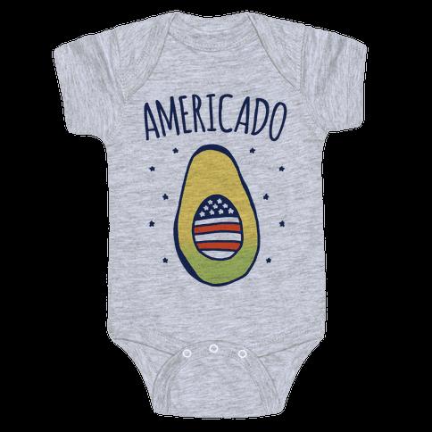 Americado Parody Baby Onesy