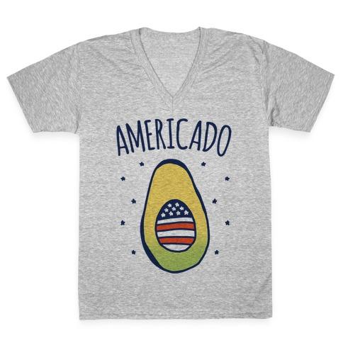Americado Parody V-Neck Tee Shirt