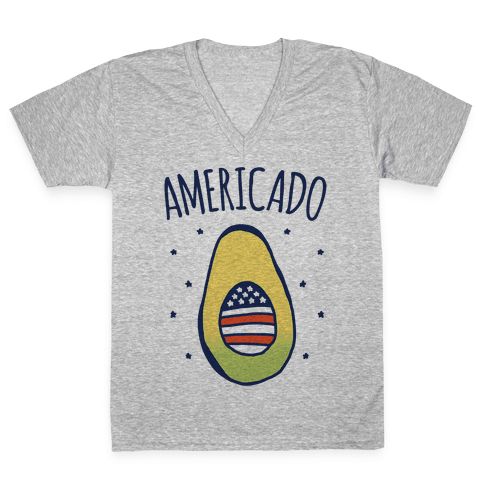 Americado Parody V-Neck Tee Shirt