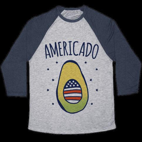 Americado Parody Baseball Tee