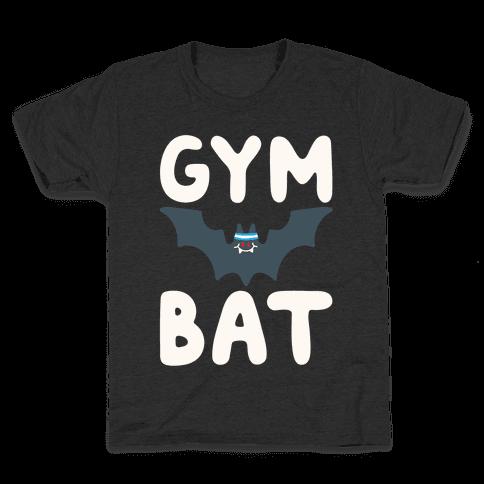 Gym Bat White Print Kids T-Shirt