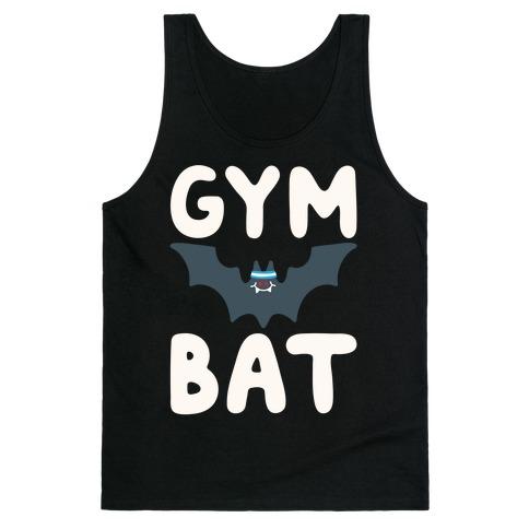 Gym Bat White Print Tank Top